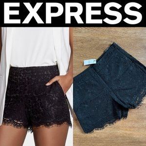 Express Black Lace Shorts